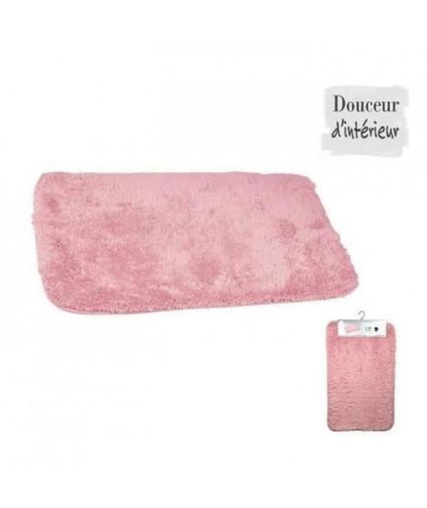 Tapis de bain chinchilla rose poudré 50x80 cm