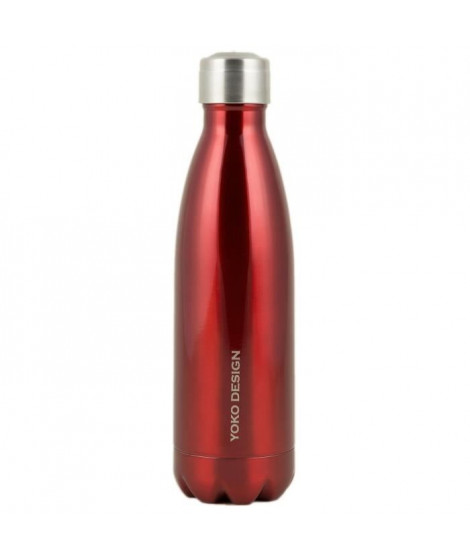 YOKO DESIGN Bouteille isotherme double paroi 500 ml rouge brillant