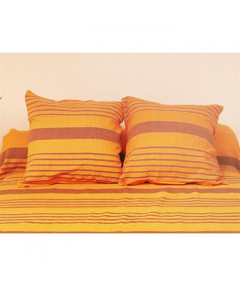 SOLEIL D'OCRE Housse de coussin OLYMPE Orange 40x40cm