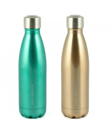 YOKO DESIGN Fancy bottle double paroi 500 ml or pailleté