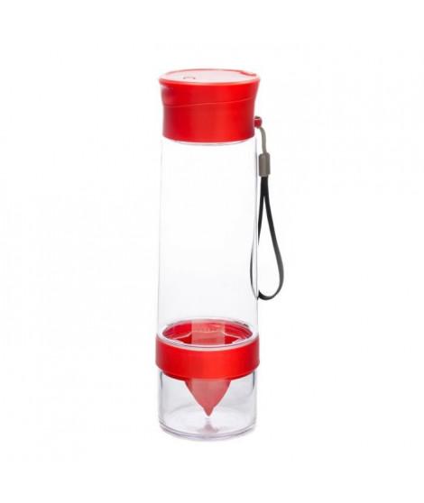 YOKO DESIGN Bouteille détox avec presse-argumes rouge