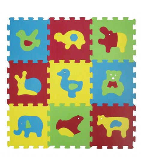LUDI Tapis Mousse Basic Animaux
