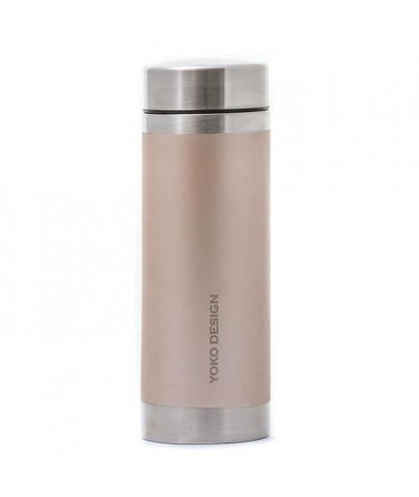 YOKO DESIGN Bouteille isotherme avec filtre a thé - Irisé or - 350 ml