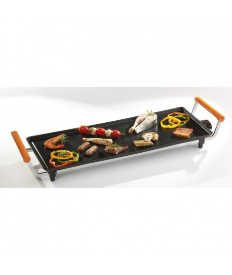 DOMO DO8301TP Plancha familiale ? 66 x 27 cm ? Noir/Orange