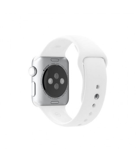 Apple Bracelet de montre connectée Sport Band pour iWatch - 38 mm - Blanc