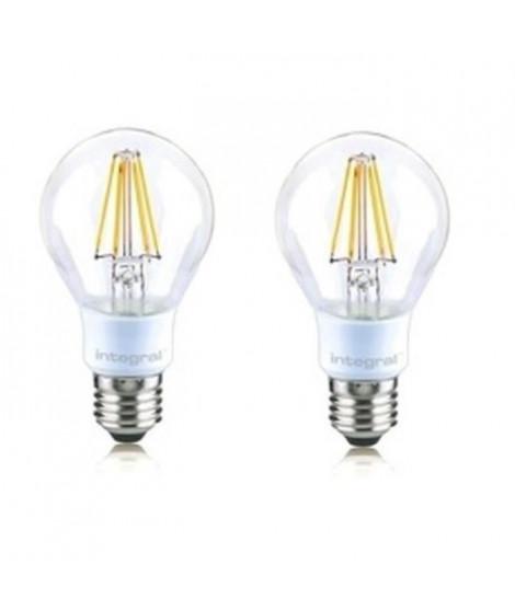 INTEGRAL LED Lot de 2 ampoules classic E27 filament 4,5 W équivalent a 40 W 2700 K 470 lm