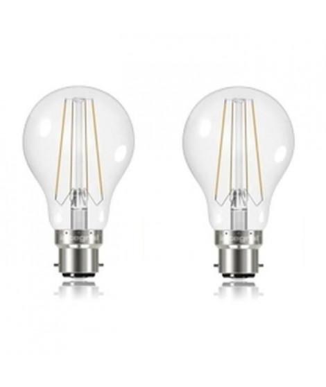 INTEGRAL LED Lot 2 ampoules B22 filament 6,2 W équivalent a 60 W 2700 K 806 lm