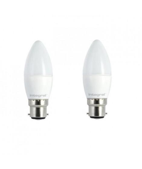 INTEGRAL LED Lot de 2 ampoules flamme B22 6,5 W équivalent a 40 W 5000 K 490 lm dimmable