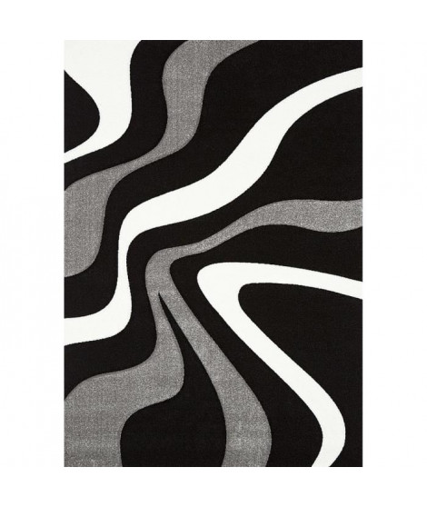 DIAMOND Tapis de salon Noir 160x230cm