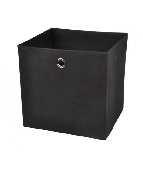 HOMEA Panier de rangement intissé 31x29x31 cm noir