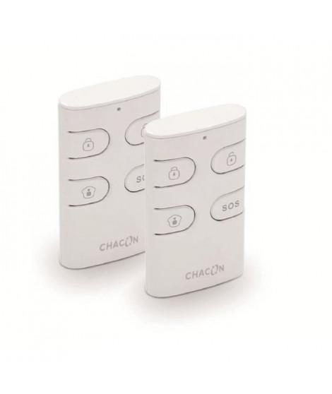 CHACON Lot de 2 télécommandes d'alarme supplémentaires 4 boutons