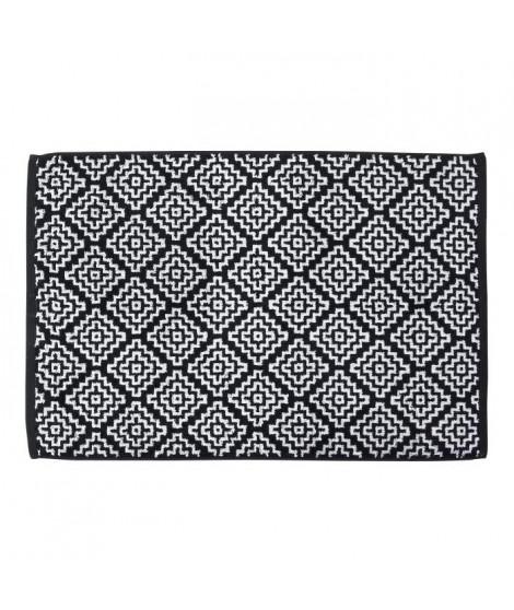 DONE Tapis de bain Boho - Noir & Blanc - 50x70cm