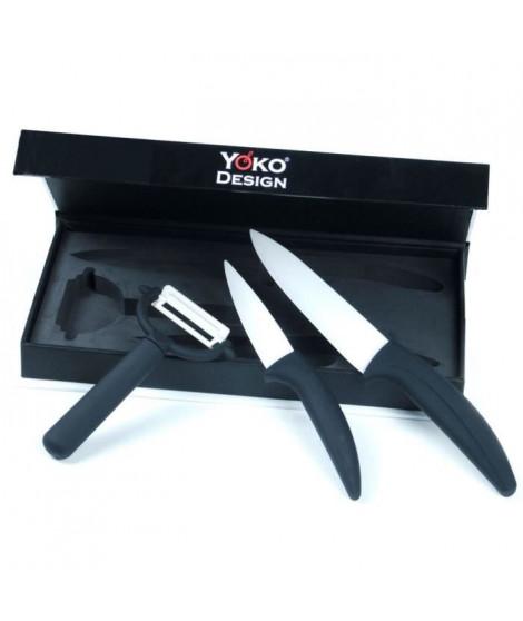 YOKO DESIGN Set de 2 Couteaux en Céramique + un Eplucheur