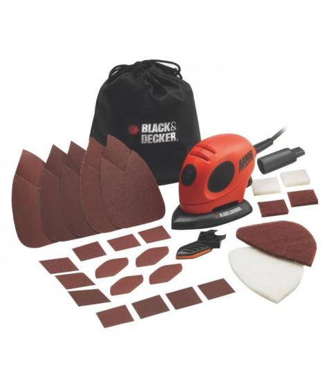 BLACK & DECKER Ponçeuse Mouse Firestorm + 15 accessoires