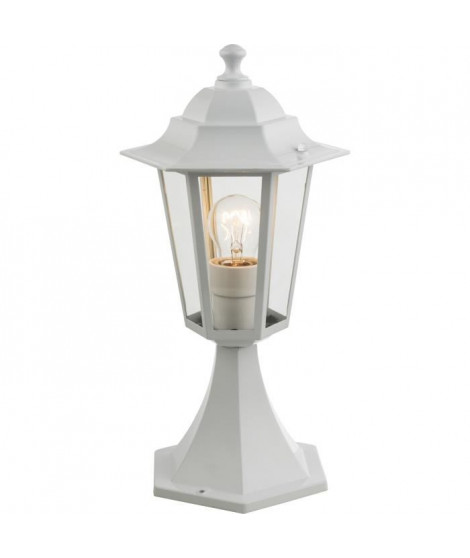 Globo Lighting Borne extérieure aluminium fonte blanc - Verre translucide - IP44