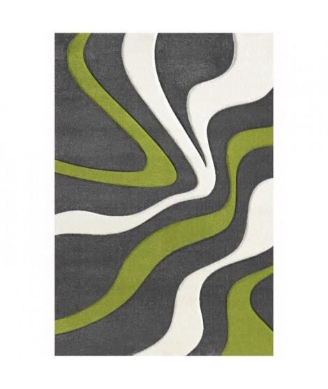 NAZAR Tapis de salon Diamond 120x170 cm vert, gris et blanc