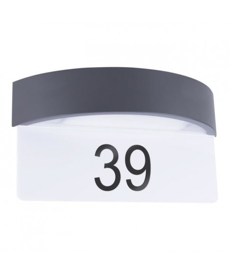 SMARTWARES Luminaire d'entrée Led avec numéro de maison intégrée 5000.704