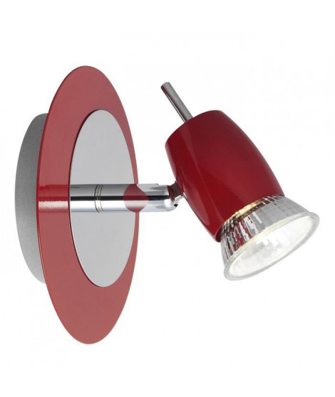 BRILLANT Spot patere Kora 1xGU10 40W rouge et chrome