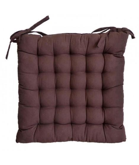 Galette de chaise 40x40x4 cm Chocolat