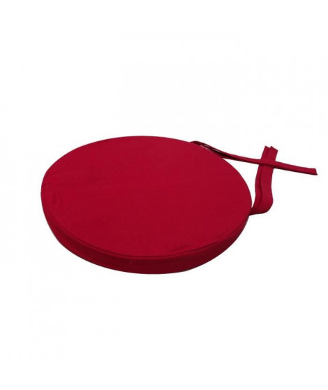 Galette de chaise ronde 40x4 cm  Rouge