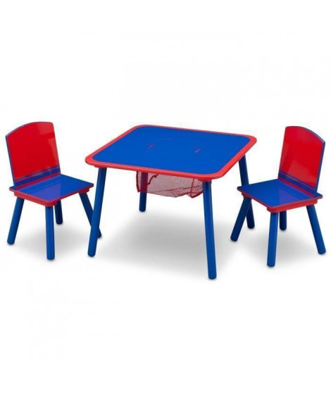 Table enfant et 2 chaises Bleu et rouge
