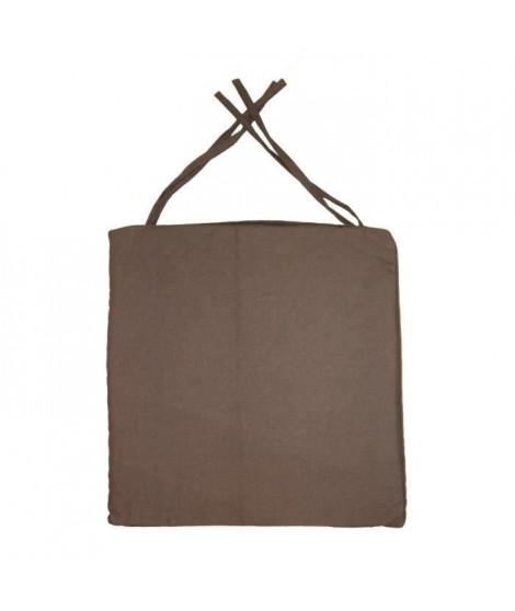 Galette de chaise carrée 40x40x4 cm  Chocolat