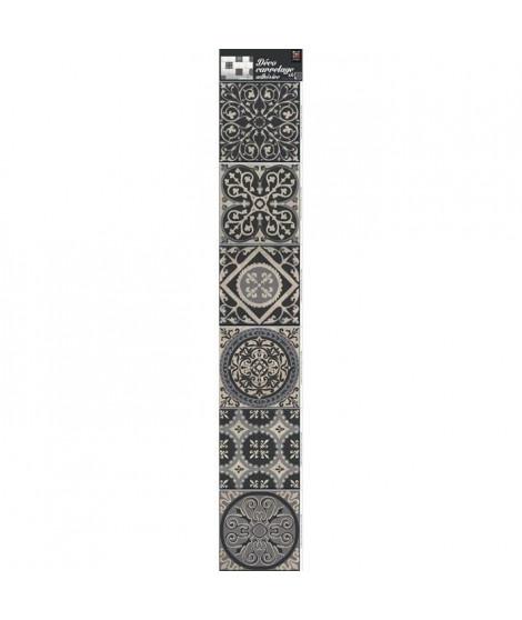 PLAGE  Sticker déco carrelage - Carreaux Brescia6 planches 15 x 15 cm