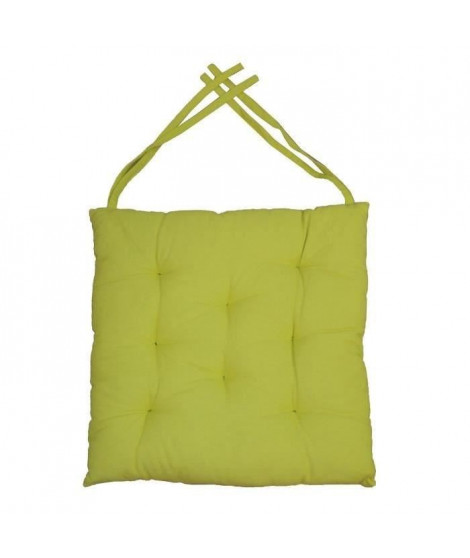 Galette de chaise 8pts 40x40x4 cm  Vert anis
