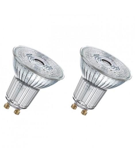 OSRAM Lot de 2 Ampoules spot LED PAR16 GU10 3,1 W équivalent a 35 W blanc chaud dimmable