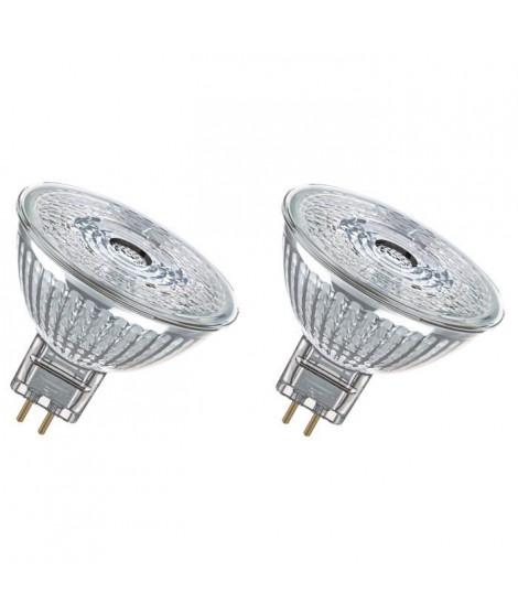 OSRAM Lot de 2 Ampoules spot LED MR16 GU5,3 5 W équivalent a 35 W blanc chaud dimmable