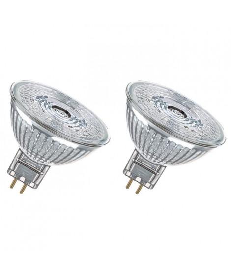 OSRAM Lot de 2 Ampoules spot LED MR16 GU5,3 3 W équivalent a 20 W blanc froid dimmable