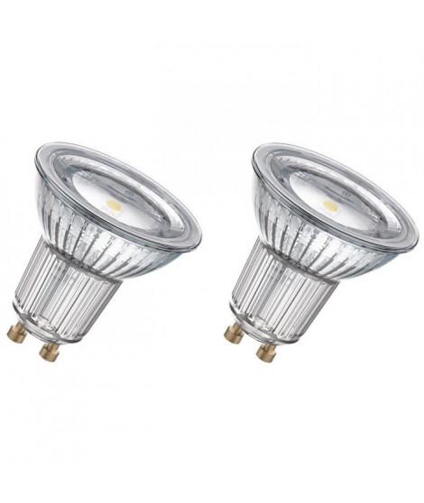 OSRAM Lot de 2 Ampoules spot LED PAR16 GU10 4,3 W équivalent a 50 W blanc froid