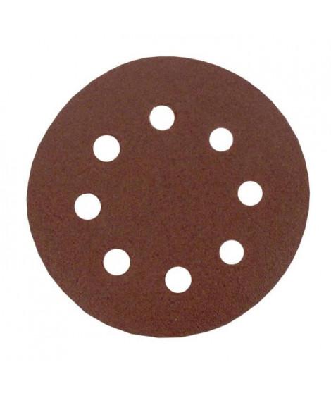 Lot de 6 disques abrasifs pour poncer - Ø 115 mm - Gros moyen 80