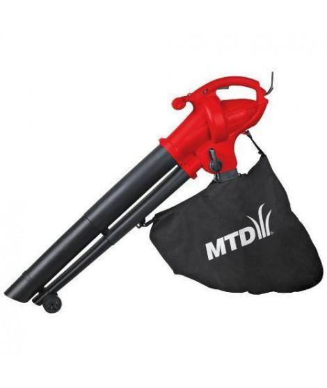 MTD Aspirateur broyeur souffleur 230 v 2500 kw sac souple 45 l volume air 900 m3/h vitesse air 270 km/h