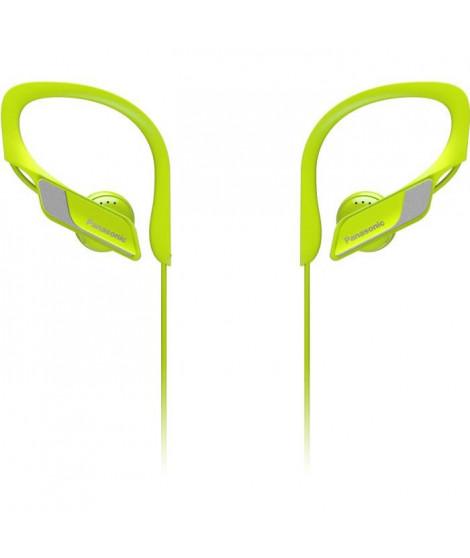 PANASONIC BTS10 Écouteurs Sport sans fil Bluetooth - Micro intégré - Résistants aux éclaboussures - Jaune