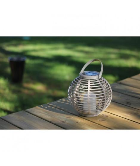 MUNDUS Lanterne en plastique Ø22,5 x H20 cm - Taupe