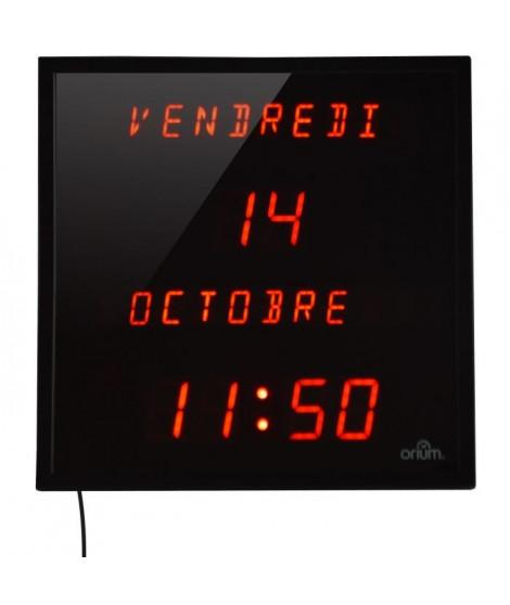 ORIUM Horloge LED a date digitale - 28x28 cm - Noir