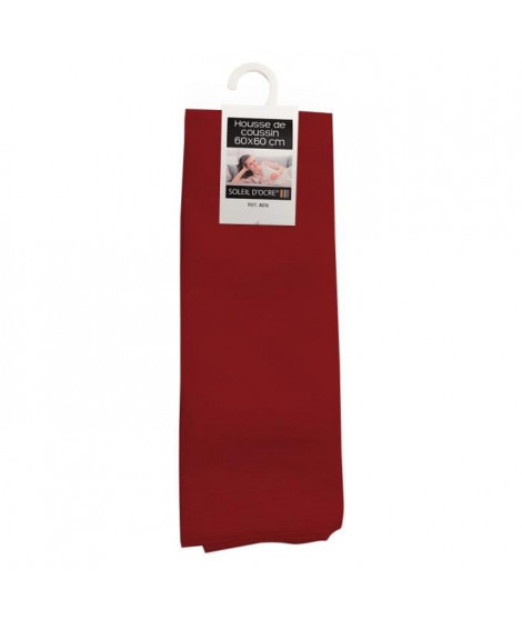 SOLEIL D'OCRE Housse de coussin Alix - 60x60 cm - Rouge