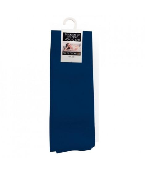 SOLEIL D'OCRE Housse de coussin Alix - 40x40 cm - Bleu marine