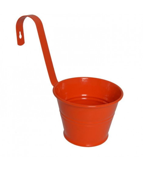 MUNDUS Pot mural Floriane 1,5 L - 25,5 x 15 x H 25 cm - Orange