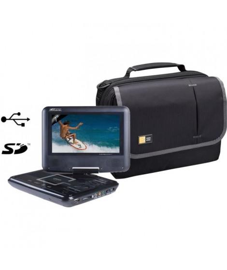 TAKARA VR122B Lecteur DVD noir + Sacoche CASE LOGIC