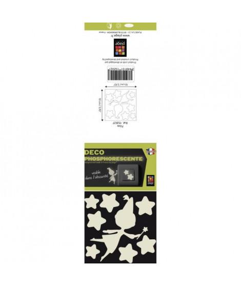 Sticker phosphorescent Fée - Vinyle - Planche 10x10 cm