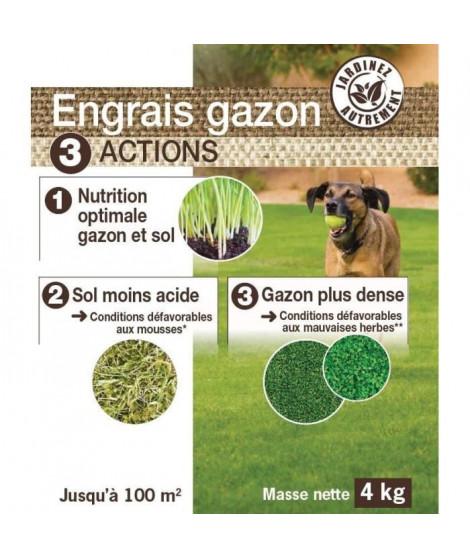 NONA Engrais gazon 3 en 1 - 4 kg