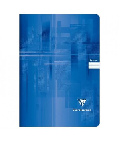 CLAIREFONTAINE Cahier piqûre - 96 pages - 21 x 29,7 cm - 90 g - Bleu