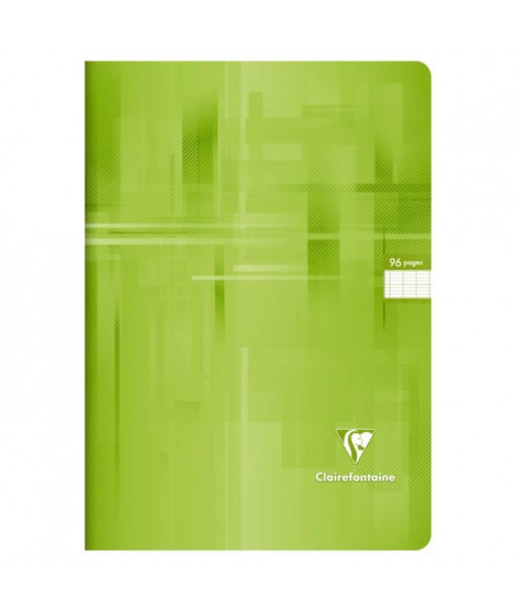 CLAIREFONTAINE Cahier piqûre - 96 pages - 21 x 29,7 cm - 90 g - Vert