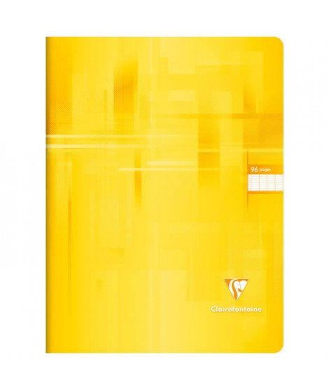 CLAIREFONTAINE Cahier piqûre - 96 pages - 24 x 32 cm - 90 g - Jaune