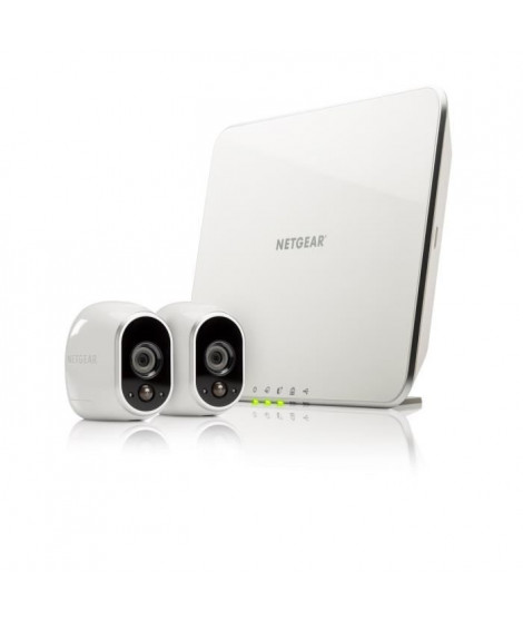 Arlo - Systeme de sécurité sans fils a vision nocturne - 2caméras HD intérieur/extérieur + station d'accueil intelligente (V…