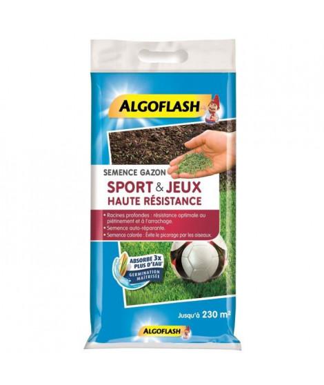ALGOFLASH Semences gazon terrain de sport et jeux - Haute résistance - 5 Kg