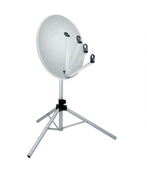Kit antenne satellite trépied LNB boussole & câble