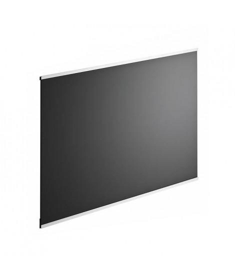 Fond de hotte en verre de 5mm d'épaisseur - Noir - 90x70cm
